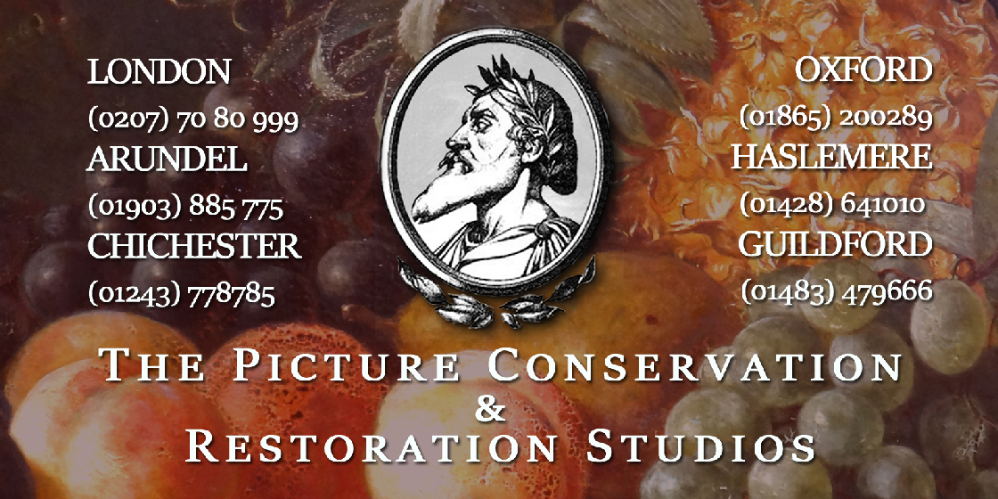 The Picture Conservation and Restoration Studios Logo - The Restoration of Fine Works of Art in Oil Painting, Watercolour, Prints and Photography