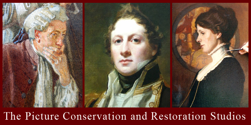 The Picture Conservation and Restoration Studios, Conservators and Restorers of Oil Paintings, art, Watercolours, Works on Paper, Prints and Frames. Conservators and Restorers of Works of Arts in Oil Painting, Watercolours and Prints. Located in London, Arundel, Sussex, Hampshire, Oxford.