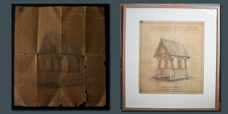 Restoration and Conservation of a Drawing on Paper